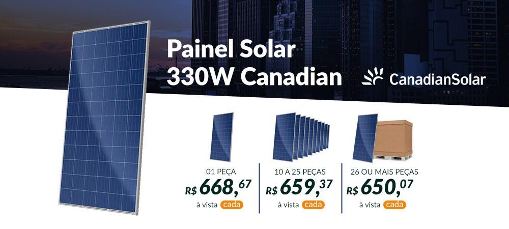 Painel Solar 330W Canadian Solar 30.04 - abril