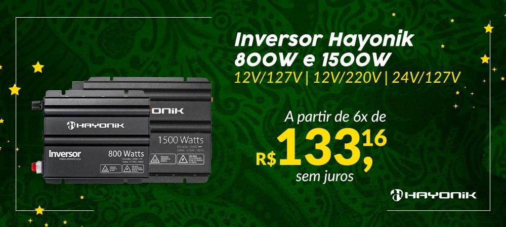 Banner Destaque Inversor Hayonik HAY800 e HAY1500 -