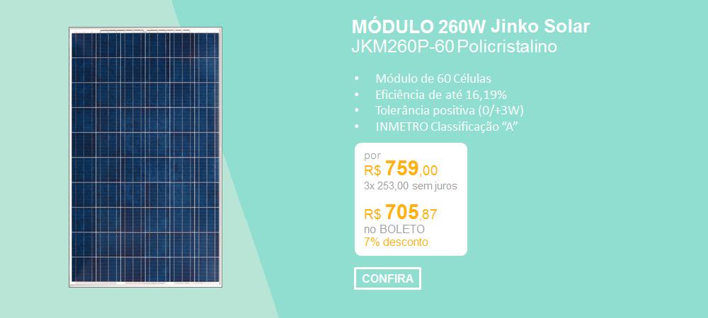 Painel JInko Solar JKM260P