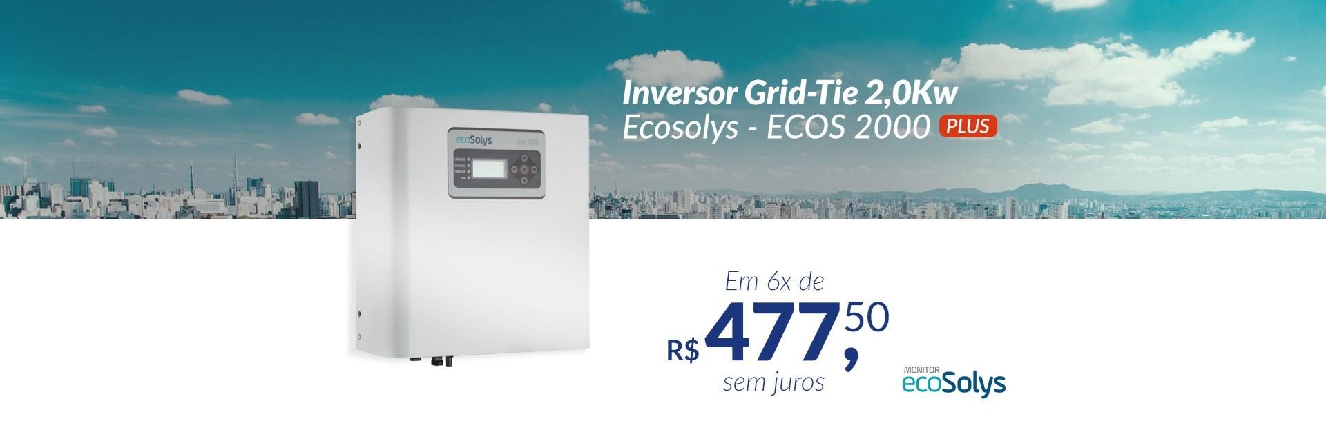 Inversor Grid-Tie 2,0Kw Ecosolys - ECOS2000 PLUS