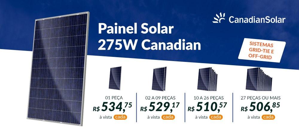 Banner Destaque Painel Solar Canadian 275 - 22/03 - Março