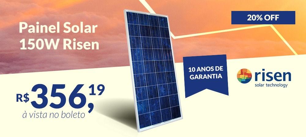 Banner Painel Solar 150W Risen Solar - Março