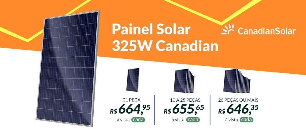 Painel Solar 325W Canadian Solar - Março