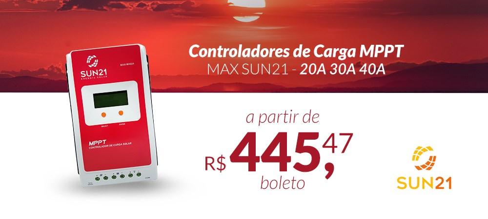 Controlador de Carga MPPT MAX SUN21 - 20A 30A 40A  -