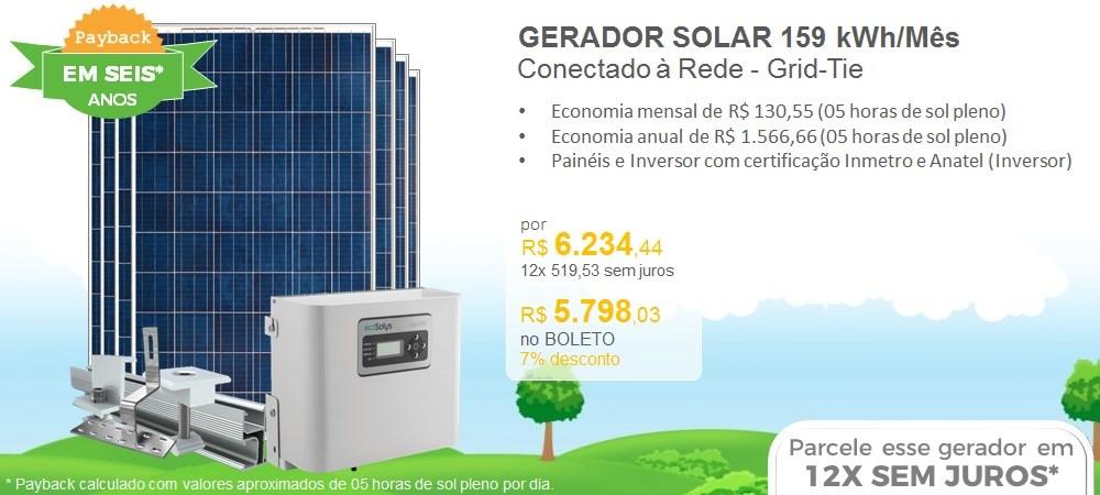 Rotativo - Kit Solar 159 Khw Mes