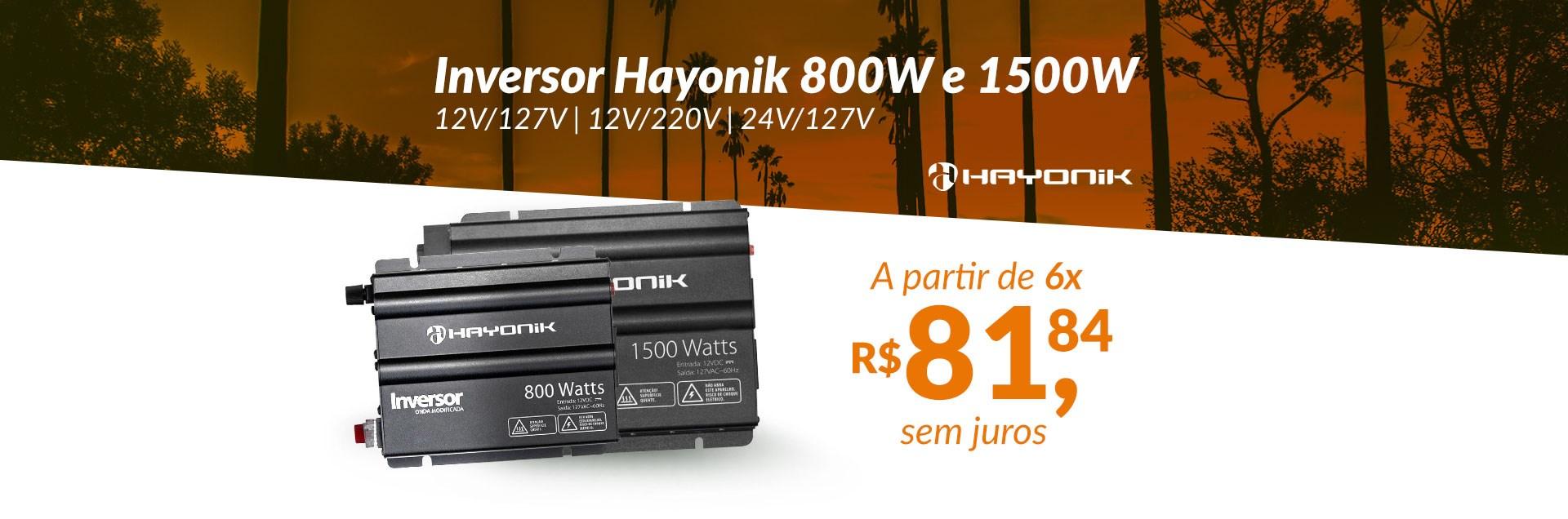 Inversor Hayonik HAY800 e HAY1500