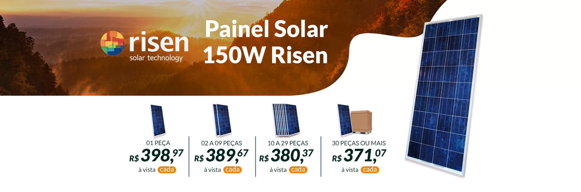 Banner Painel Solar 150W Risen
