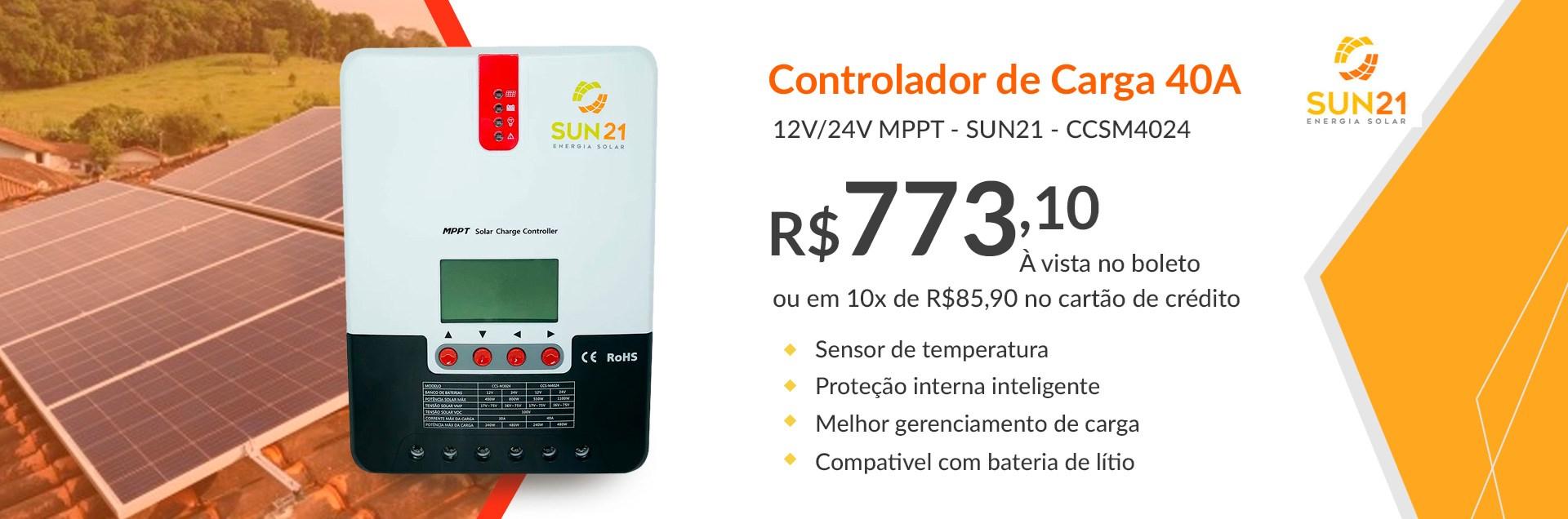 Controlador 40A Sun21