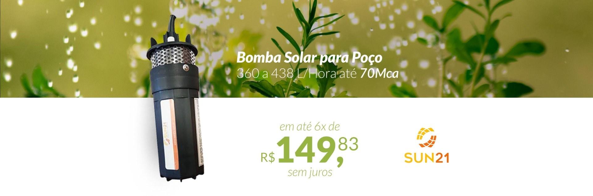 Bomba Solar 360 a 438 L/Hora Ate 70Mca Sun21