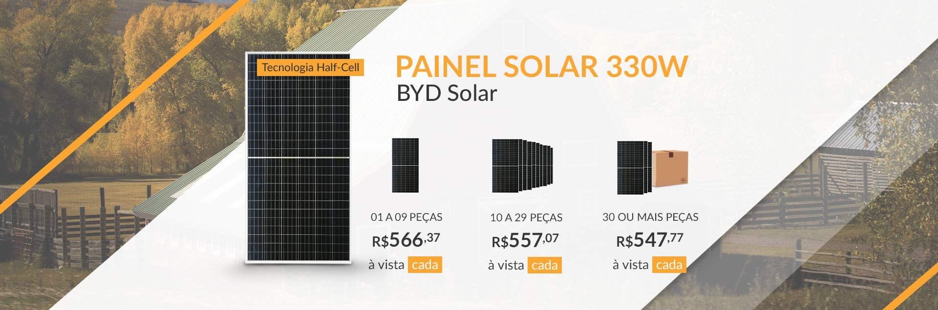 Painel Solar 330W BYD Solar - Junho