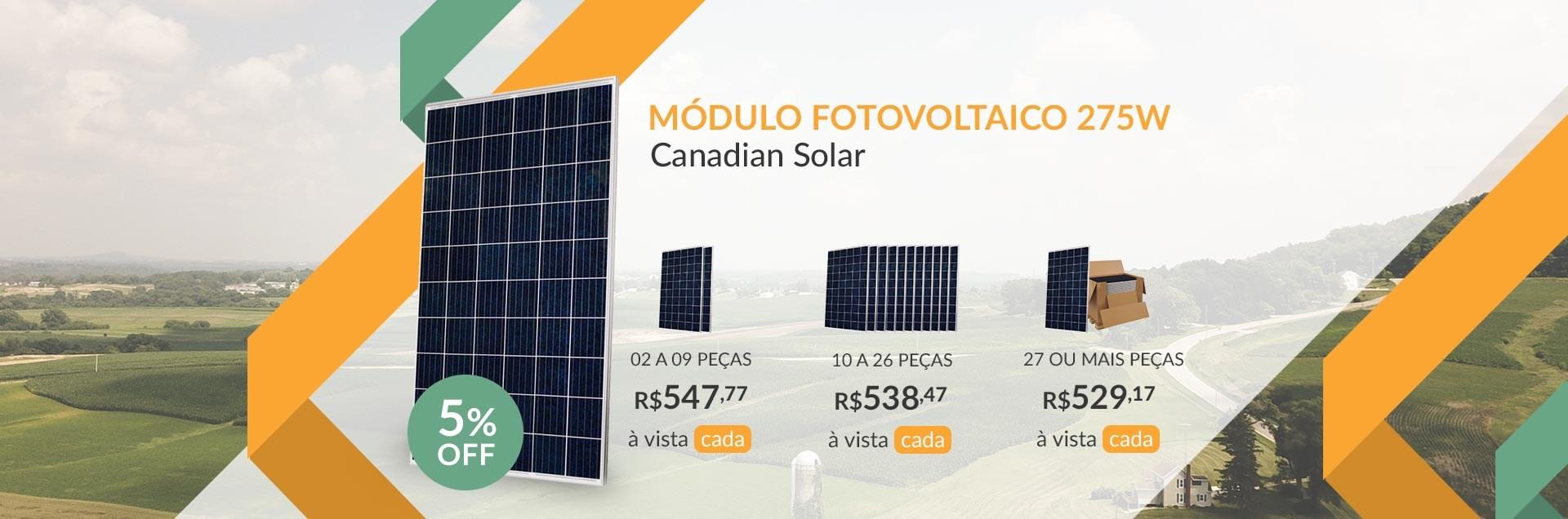 Módulo Fotovoltaico 275W Canadian Solar