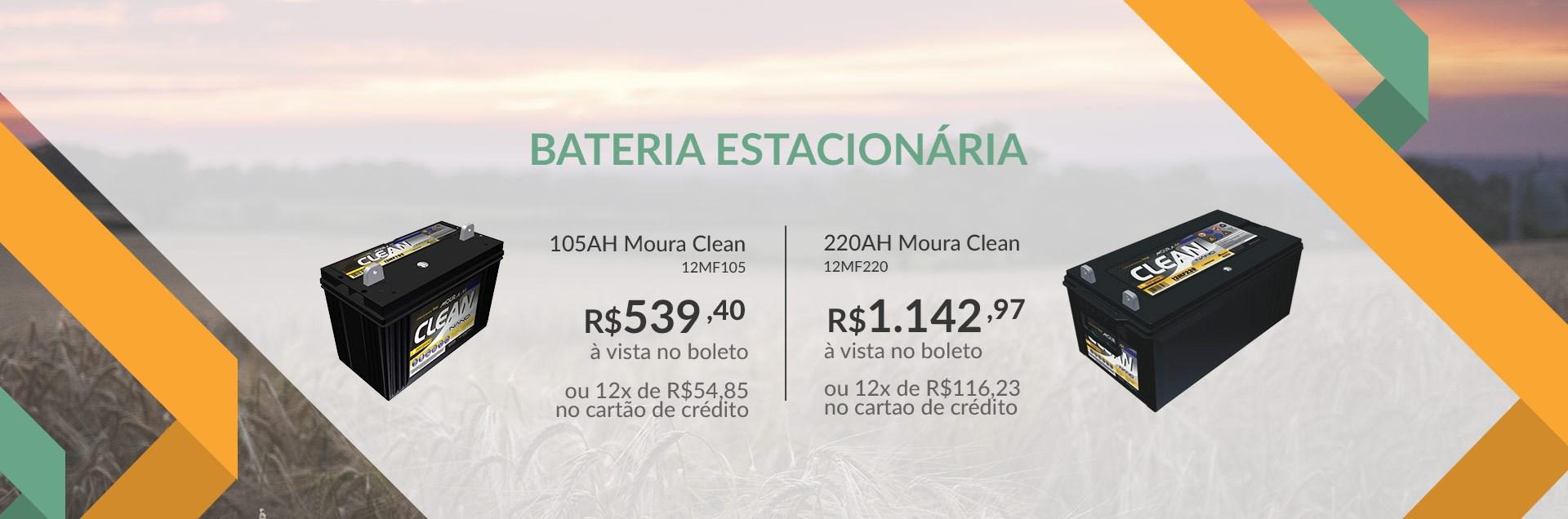 Bateria Estacionária Moura Clean
