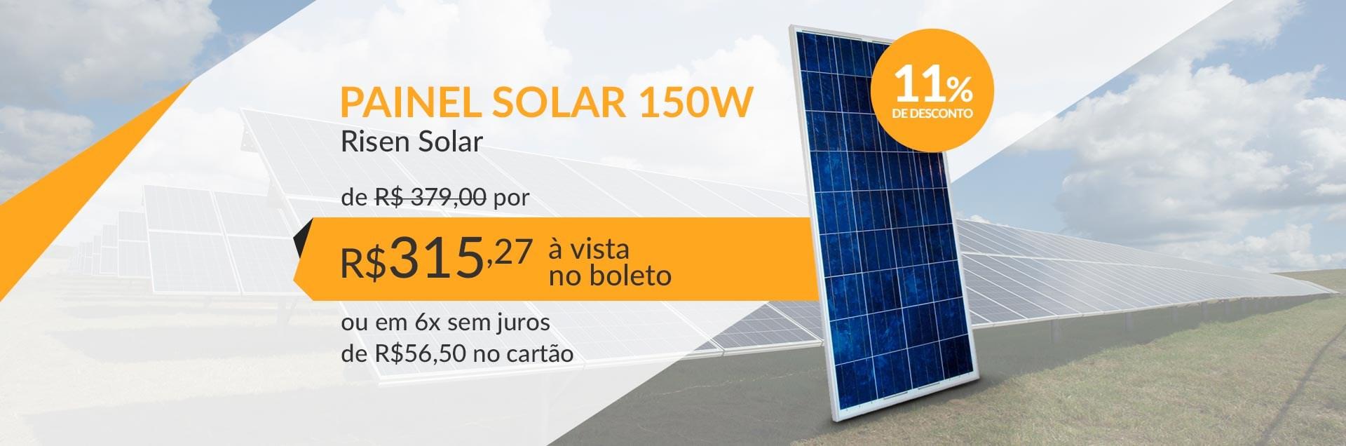 Painel Solar 150W Risen Solar