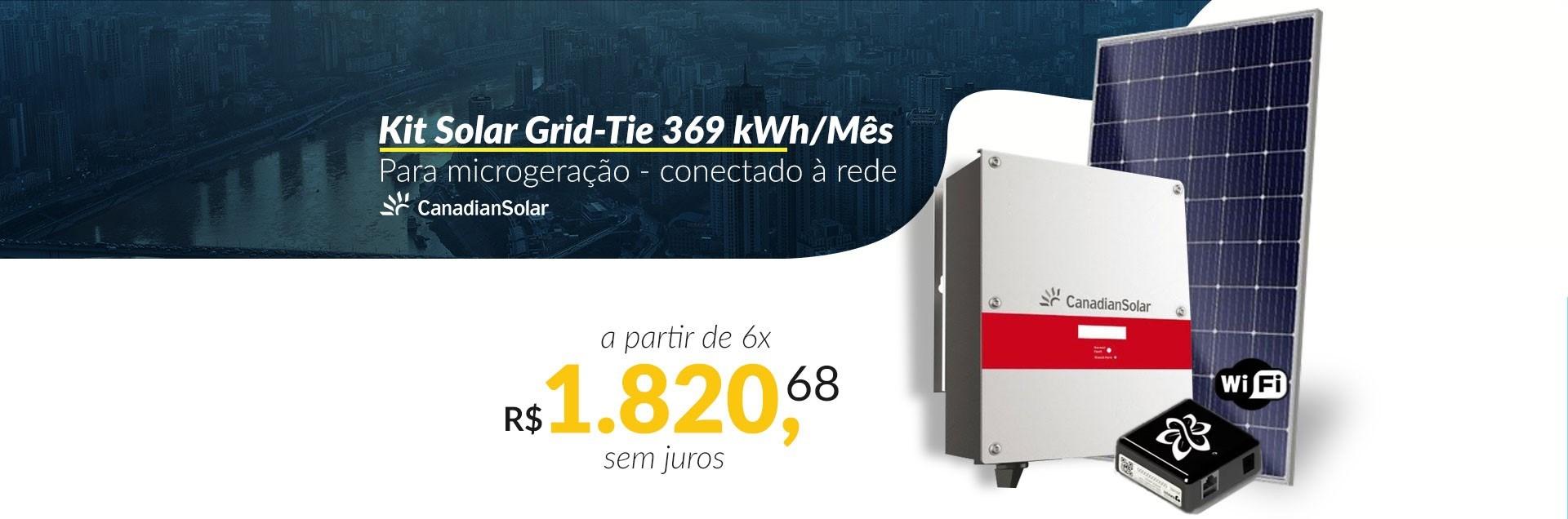 Kit Solar Grid-Tie 396 kWh/Mês para Microgeração (Conectado à Rede)