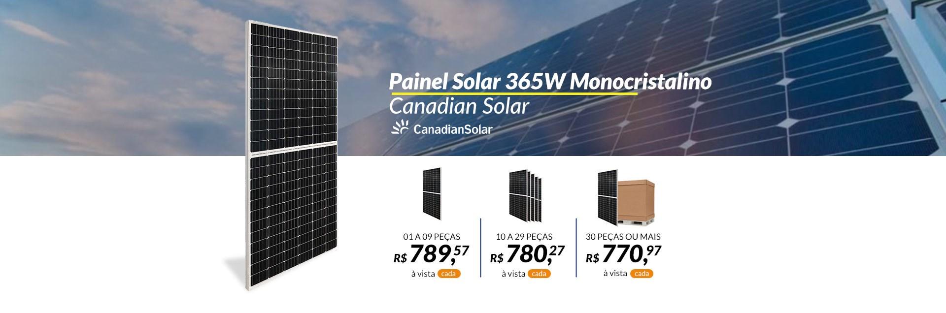 Painel Monocristalino Canadian Solar