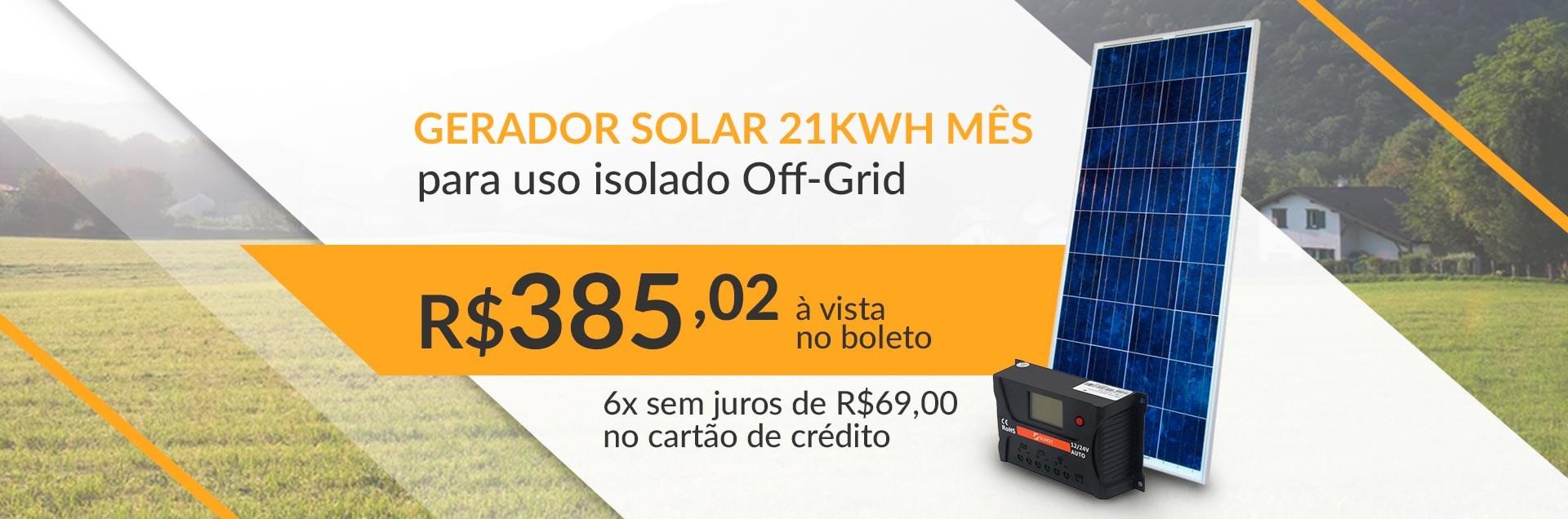 Gerador Solar Off-Grid - Junho