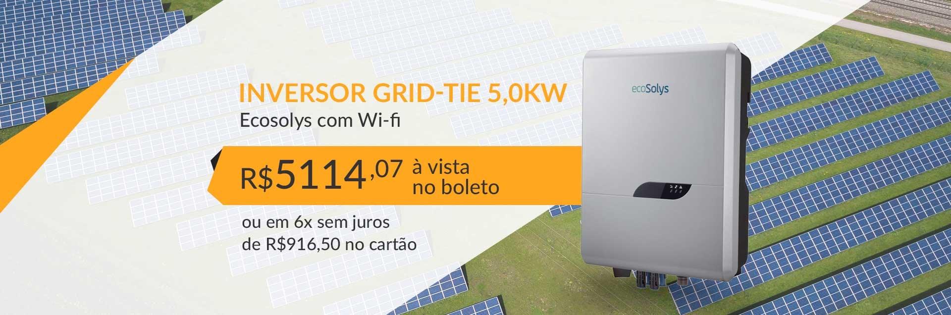 Inversor Grid-Tie 5,0kW Ecosolys com Wi-fi