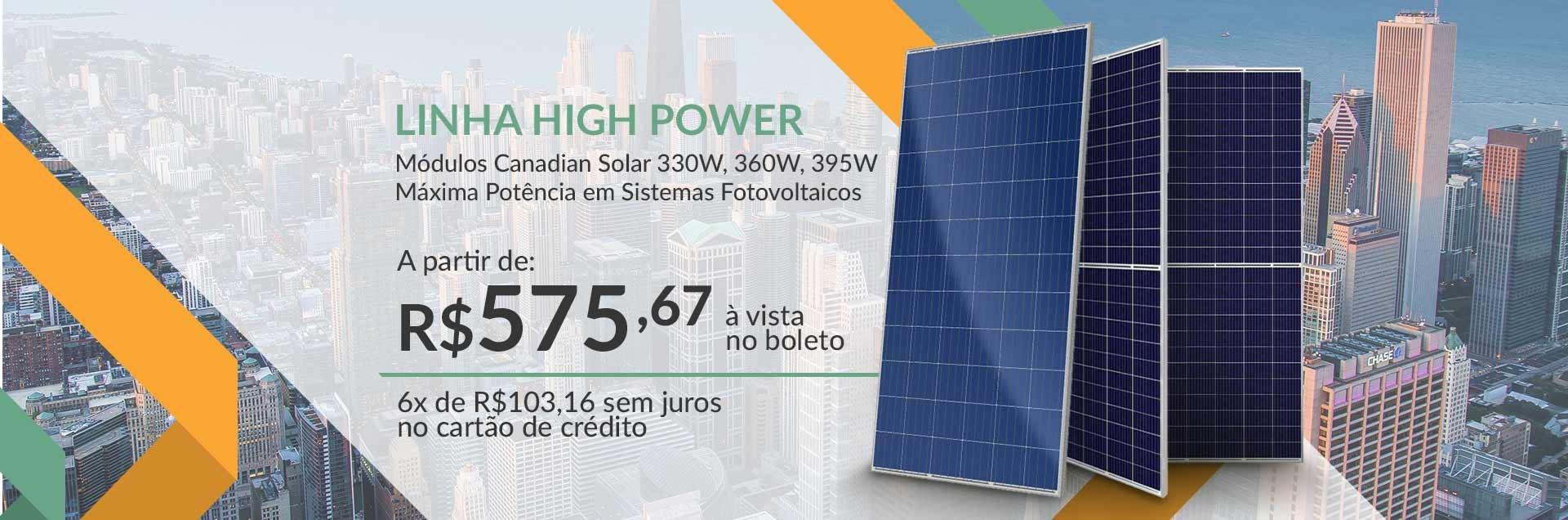 Linha High Power Canadian Solar