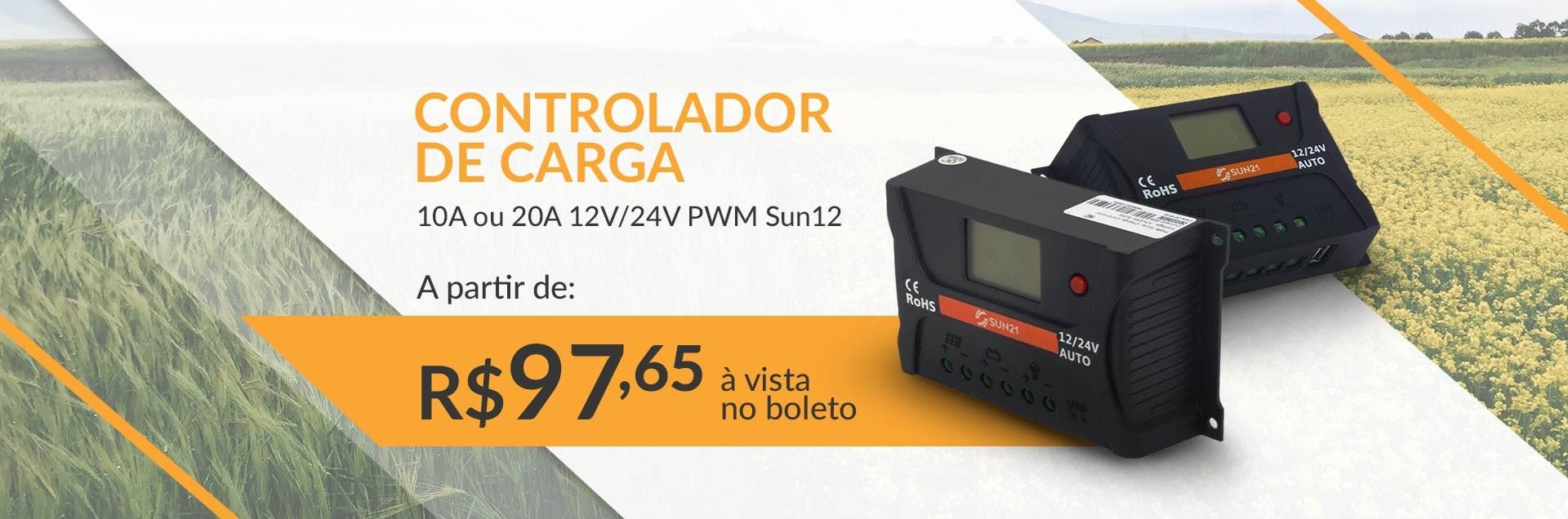Controlador de Carga PWM Sun21 - Junho