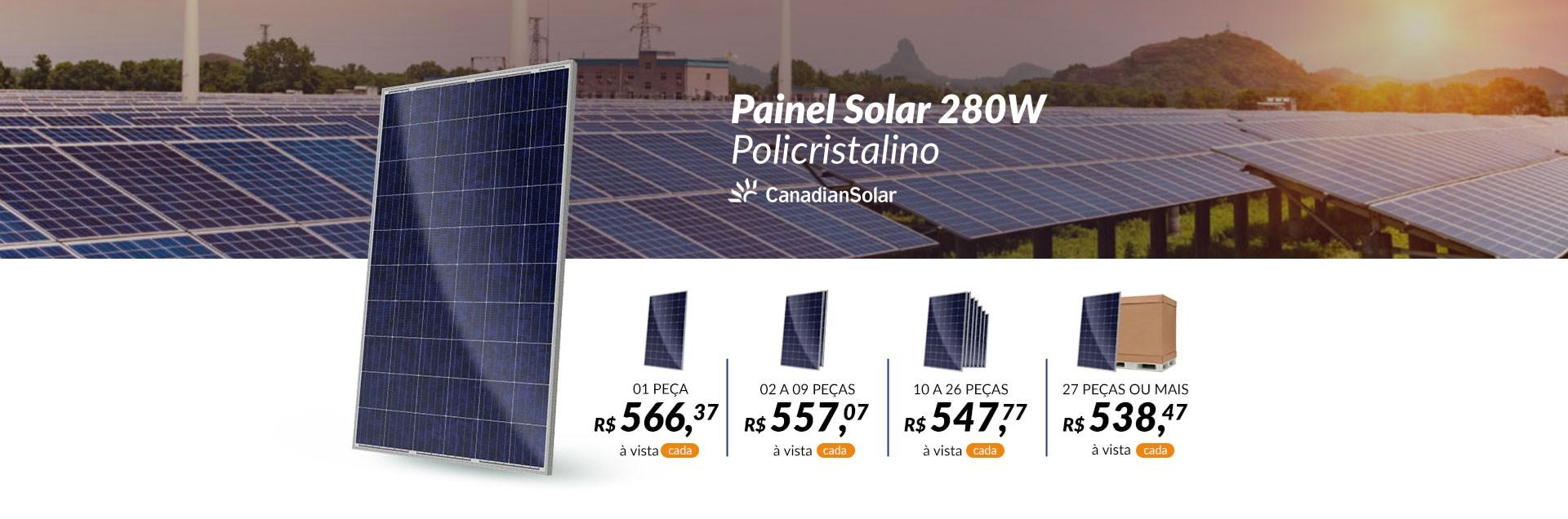 Painel 280W Canadian Solar