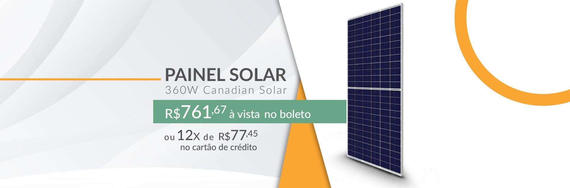 Painel Solar 360W Canadian Solar