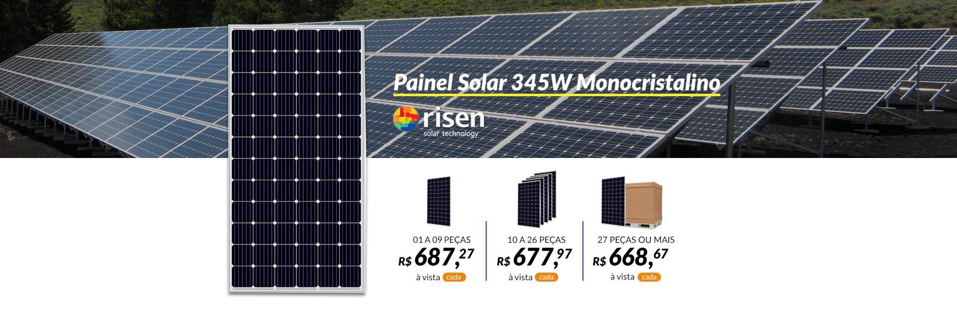 Painel Solar 345W Monocristalino - Risen Solar