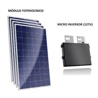 Kit Solar Grid-Tie 129 a 194 Kwh/Mês para Conexão à Rede Elétrica