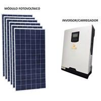 Gerador Solar 292 a 305 kWh/Mês para Uso Isolado (Off-Grid)