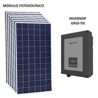 Kit Solar Grid-Tie 378 a 708 Kwh/Mês para Conexão à Rede Elétrica