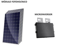 Kit Solar Grid-Tie 144 kWh/Mês para Conexão à Rede Elétrica