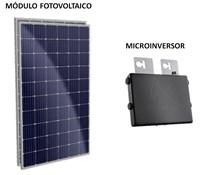 Kit Solar Grid-Tie 72 kWh/Mês para Microgeração (Conexão à Rede)