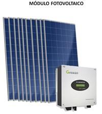 Kit Solar Grid-Tie 396 kWh/Mês para Conexão à Rede Elétrica - Growatt