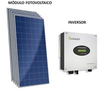 Kit Solar Grid-Tie 198 kWh/Mês para Conexão à Rede Elétrica - Growatt