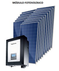 Kit Solar Grid-Tie 633 kWh/Mês para Conexão à Rede Elétrica - Ingeteam