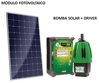 Kit Bomba Solar 1200 a 8600 L/Dia até 40mca para Poço