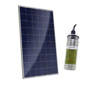 Kit Solar para Bombeamento de Água 975L / Dia (100M) - Bomba Solar