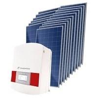 Kit Solar Grid-Tie 3000 Kwh/Mês para Microgeração (Conexão à Rede)