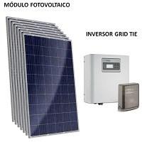 Kit Solar Grid-Tie até 292 Kwh/Mês para Microgeração (Conexão à Rede)