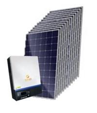 Gerador Solar 584 a 611 kWh/Mês para Uso Isolado (Off-Grid)