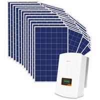 Kit Solar Grid-Tie até 1567 Kwh/Mês para Microgeração (Conexão à Rede)