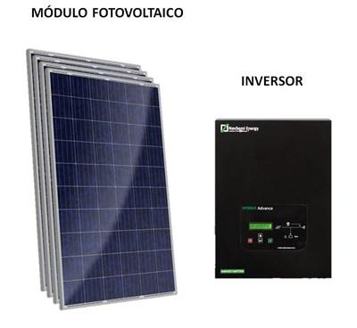 Gerador Solar 165 Kwh/Mês para Uso Isolado Off-Grid - OutBack