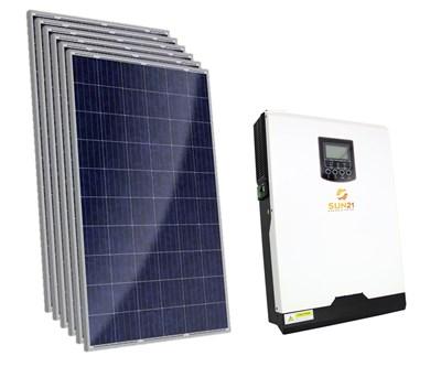 Gerador Solar 234 a 297 kWh/Mês para Uso Isolado (Off-Grid)