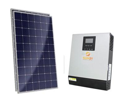 Gerador Solar 42 a 61 kWh/Mês para Uso Isolado (Off-Grid)