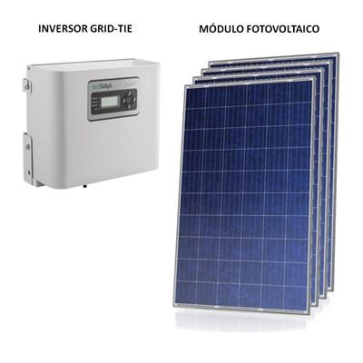 Kit Solar Grid-Tie 127 a 190 Kwh/Mês para Conexão à Rede Elétrica