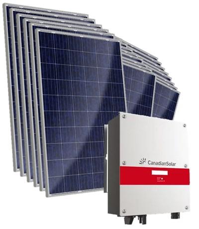 Kit Solar Grid-Tie 594 kWh/Mês para Microgeração (Conectado à Rede)