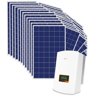 Kit Solar Grid-Tie até 1779 Kwh/Mês para Microgeração (Conexão à Rede)