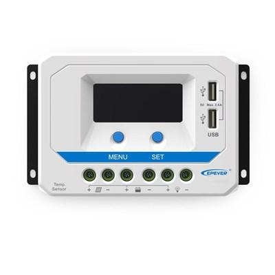 Controlador de carga 20A (12V/24V) PWM EP Solar - VS2024AU