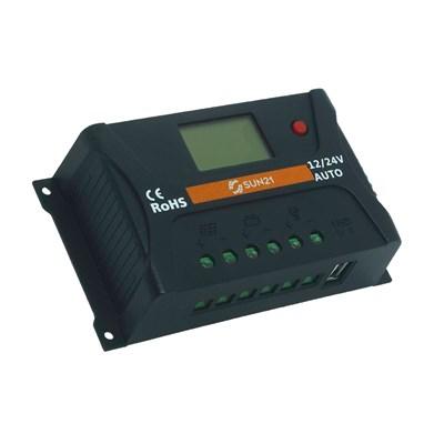 Controlador de Carga 20A 12V/24V PWM Sun21 - CCS-P2024