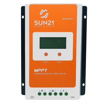 Controlador de Carga 30A 12V/24V MPPT SUN21 - MAX-M3024