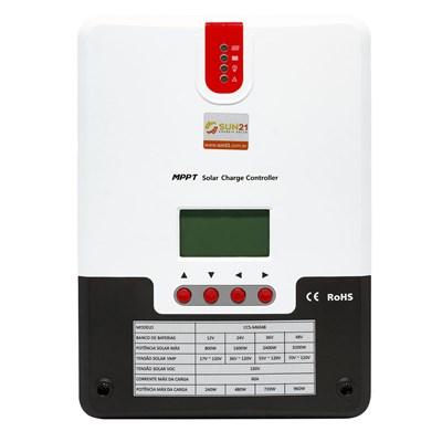 Controlador de Carga 60A 12V/24V/36V/48V MPPT SUN21 - CCS-M6048